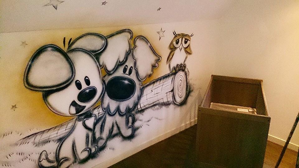 Home arwt - Grijs muurschildering ...